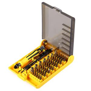 Profesyonel 45 1 JK 6089 B Donanım Vida Sürücü Tool Kit Hassas Tornavida Seti HQ cep telefonu tamir aracı ve Dizüstü + B