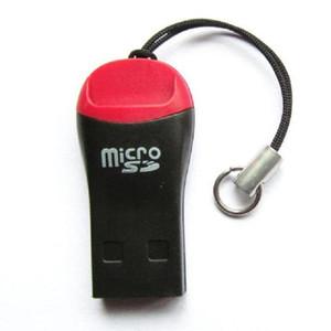 200 unids silbato USB 2.0 T-flash lector de tarjetas de memoria, TFcard, lector de tarjetas micro SD con paquete