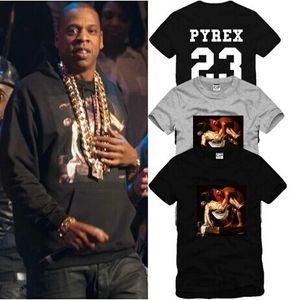 Sıcak Satış Erkekler Kadınlar T-Shirt Kanye EXO Pyrex Vizyon 23 T Gömlek Yaz Hipster En Hip-Hop Tee Gömlek PYREX 23 Giyim HBA