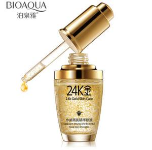 Esencia oro 24K Cara Crema de Día Hidratante Serum hidratante facial Cuidado de la piel de las mujeres 2pcs el envío libre