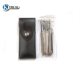 Attrezzi del fabbro Blocchi di serratura GOSO 12pcs Ganci a gancio Set di chiavi in titanio Set di chiavi rotte Spedizione gratuita