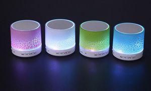 무선 Bluethooth 미니 스피커 A9 LED 조명 스테레오 휴대용 핸 즈 프리 스피커 딱딱한 텍스처 지원 USB 마이크로 SD TF 카드 뮤직 플레이어