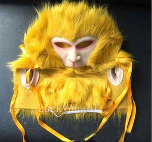 2017 Qualitäts-Halloween Monkey King Maske Horror Rubber Latex Vollmaske Halloween-Cosplay-Affe-Party Halloween Props freies Verschiffen Maske