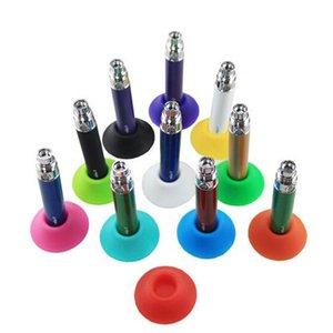 다채로운 실리콘 도크 에고 배터리 실리콘베이스 빨판 홀더 전자 담배 에고 드 Atomizer 디스플레이 스탠드를 들고 Hot USA