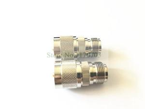 50 PCS N fêmea jack para tomada UHF plugue PL259 reta conector do adaptador RF