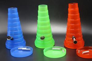 2017 Colorido Bolso Dobrável Bongo TUBO DE VIAGEM Dobrável Acrílico Bong Bongo de Água Flexível Bongo de Plástico Frete Grátis
