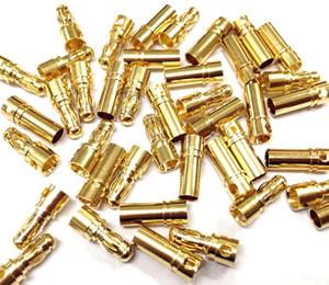 2mm 4mm 5mm 8mm Or Bullet Connecteur Banane Fiche Homme Femme Épais Or Plaqué pour ESC Batterie 100 paires inclus