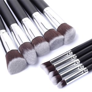 Wholesale- 10pcs Full Set Women  Brush Kit Superior Professional Soft Cosmetic Brushes Multifunction Toiletry Kit for Women