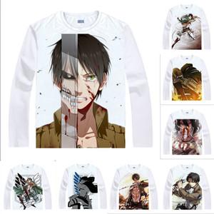 Аниме рубашка нападение на Titan футболки мульти-стиль с длинным рукавом разведчик Легион Леви Аккерман косплей мотивы Каваи рубашки