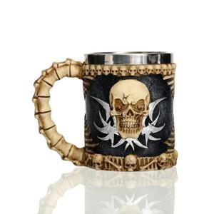 """Jolly Roger"" Drinking Skull Mug caneca il morto morto Tankard Horror Decor Cup per caffè birra Viking Halloween Bar Party"