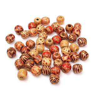 50Pcs Dreadlock-Korn-hölzernes Haar-Perlen, die großes Loch Dreadlock-Bead-Ring-Rohre für die Flechten-Haar-Verlängerungs-Zusätze flechten