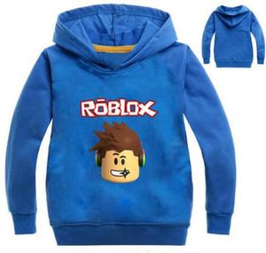 2017 가을 Roblox 티셔츠 for Kids boys 스웨트 셔츠 for Girls Clothing 빨간 코 당일 코스튬 후드 티 스웨터 긴팔 티셔츠