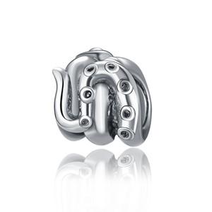 Lega Pirate Octopus Braccialetto Accessori Perle europee Adatto Pandora Bracciali Collane Charm Charm fai da te spedizione gratuita