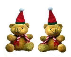 9 cm Presentes de Natal Urso Bonito Dos Miúdos de Natal de Pelúcia Brinquedos Bonecas Fontes Do Partido Xmas Decorações Da Árvore Ornamentos de Duas Cores
