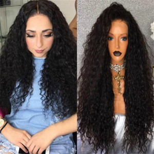 Promi Perücken High Quality Virgin mongolische Curly Haar-tiefe Locken-volle Spitze-Perücke für schwarze Frauen Verschiffen
