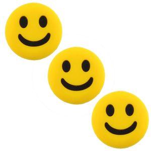 3PCS جميل CuteSmile الوجه صدمة اهتزاز يستمتع امتصاص ل مضرب تنس المضرب