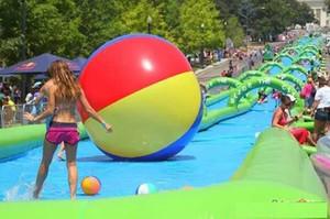 (magasin spécialisé) glissière d'eau de la ville toboggan Pipe Slide Extreme grande récréation gonflable en plein air 15 M de long à jouer dans summe