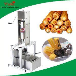 N19 commercial Spainsh Churros machine Manuel 5L Churro Maker machine et 6L Friteuse électrique Churro machine et Fryer