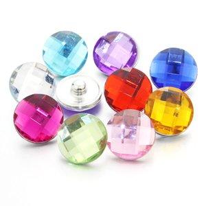 Atacado-colorido 10pcs / lot mistura 18mm botão snap jóias botão de pressão de resina pressão bijoux relógios mulheres charme pulseira 020418