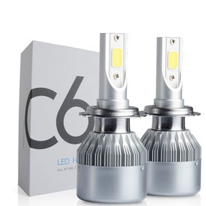 C6 Auto LED Headlight 72W 7200LM car Headlamp H1 H3 H7 H4 H11 hb4 9006 hb3 9005 9007 h13 880 free shipping