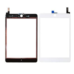 30PCS 100% Nouveau panneau de verre de l'écran tactile avec Digitizer remplacement pour iPad Mini 4 Libère noir et blanc DHL