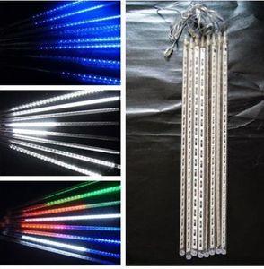 8 teile / satz Schneefall LED Streifen Licht Weihnachten Regen rohr Meteorschauer Regen LED Lichtrohre 100-240 V EU / US / UK / AU Stecker