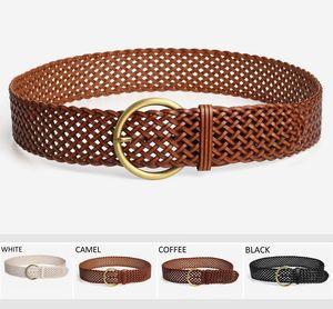 ceinture de chasteté féminine simple ceinture large en cuir à tricoter pour les femmes et les dames ceintures de créateurs de mode d'été pour la robe