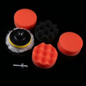 """Wholesale- POSSBAY 7Pcs/Lot 3"""" Buffing Pad Auto Car Polishing Pad Wheel Kit Buffer With Drill Adapter For Car Polisher Accessories"""