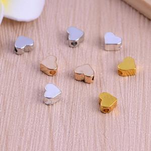 Toptan altın gümüş renk mini sevimli kalp charm kolye aksesuarları için bilezik Kolye kalp Kolye DIY takı yapımı Aksesuarları