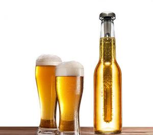 Neue 2 teile / satz Bierkühler Stick Edelstahl Weinkühlstab Eis Getränke Wein Kaltgetränkekühler Für Freies DHL