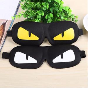 Serin Uyku Göz Maskesi Şekerleme Karikatür Göz Gölge Uyku Maskesi Siyah Maske Bandaj Siperliği Gözler Uyku için