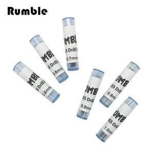 Rumble 60pcs 0.5mm 0.6mm 0.7mm 0.8mm 0.9mm 1.0mm Micro HSS codolo cilindrico Twist Drill Bit Craft plastica legno trapano a mano set di strumenti