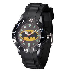Orologio da polso al quarzo con cinturino in silicone stile Boy's Batman Spiderman da ragazzo di studenti svegli del fumetto
