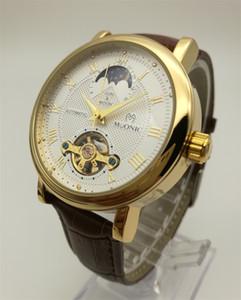 Orologi meccanici da uomo Orologio automatico cinturino in pelle Flywheel Fashion Antique Prospettiva Personalità Luxury Jewelry Brand Winner Watch
