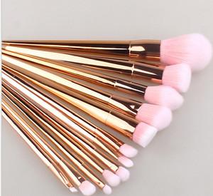 Nuovi 12 pezzi / set Set di pennelli per trucco cosmetico Set di pennelli per trucco professionale Set di pennelli per trucco per la bellezza in polvere per la donna