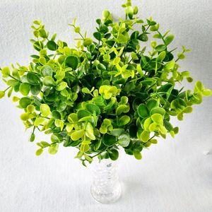 7 Zweige Grass Leaves Kleine Eucalyptus Flowers Geld Simulation Plastikblumen-Restaurant Partition Dekoration