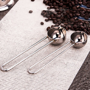 Wholesale- New 7g / 10g stainless steel measuring spoon coffee spoon teaspoon with long handled bake tool kitchen accessories