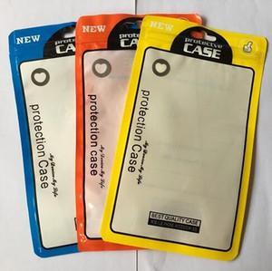 Zipper pacote de varejo Caixas OPP PP PVC Poly Bag para iPhone 11 Pro Max 8 7 Plus Samsung S8 Telefone Capa de Couro da tampa do caso