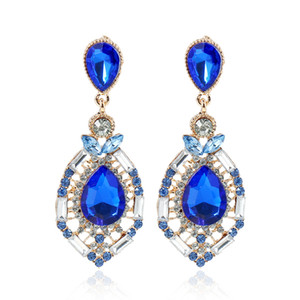 2020 Cheap Wedding Accessories Fashion Rhinestone Jewelry Diamond Bridal Earrings In Stock Free Shipping Green Blue