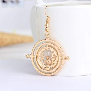 2шт=я пара падение серьги золотое стекло песочные часы серьги 18K золотое покрытие дизайн песочные часы болтаются дизайнерские серьги будет и Сэнди по DHL