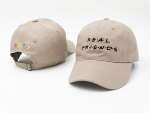 Hot fashion Real friends trending hombres mujeres raro 2017 otoño sombrero me siento como Pablo Kanye sombrero strapback famoso tumblr sombrero drake papá cap hueso