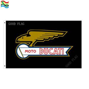 GoodFlag Spedizione gratuita moto ducati bandiere opere d'arte bandiere bandiera 3X5 FT 90 * 150 CM Polyster Outdoor Flag
