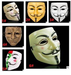 V for Vendetta Kostüm Yüz Cadılar Bayramı kostümü top balo maskesi Plastik Halloween Malzemeleri Maske
