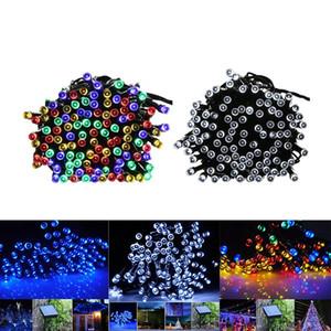 100 LED 200 LED En Plein Air 8 Modes Alimenté À L'énergie Solaire Guirlande Lumineuse Jardin Fête De Noël Arbre Lampe 12M 22M LED Flash Fée Guirlande Lumineuse
