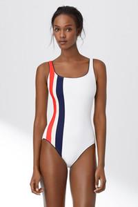2017 Siyah beyaz büyü renk plaj kadın yüzmek mayo yüksek bel profesyonel bikini TEK PARÇA SWIMSUIT Ücretsiz kargo