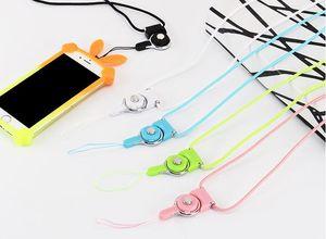 Lanière détachable d'anneau de tour de cou détachable accrochante charmante charmes pour le téléphone portable MP3 MP4 lecteurs de cartes d'identification cartes