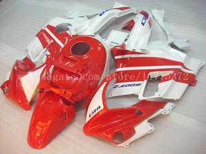 CBR600 F2 Failings + Tank para HONDA CBR600 F2 1991 1992 1993 1994 CBR600F2 91 92 93 94 Kit de cuerpo de carenado # F628E7 rojo blanco