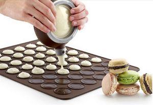 All'ingrosso-Nuovo silicone Macaron Macaron pasticceria forno di cottura stampo foglio Mat 30-cavità stampo fai da te stuoia di cottura calda vendita