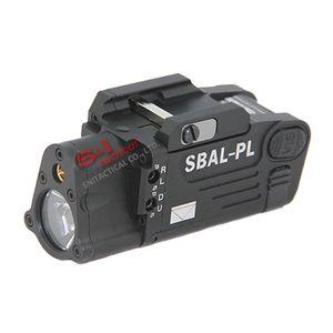 Tactical CNC Making SBAL-PL Luz LED con láser rojo Pistola / Rifle Linterna Black / Dark Earth