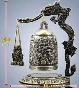 Wholesale cheap Exquisite Tibet Bronze Carved Dragon&buddha Bell